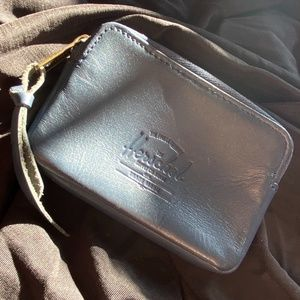 HERSCHEL SUPPLY COMPANY LEATHER NAVY OXFORD WALLET